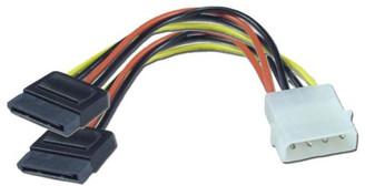 6inch SATA Power Y Cable (4Pin Molex to Dual 15pin SATA Power) GC6ATAM2