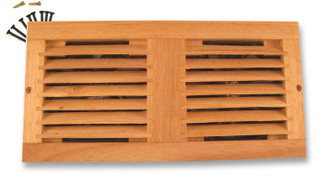 Dual 120mm Wooden Oak Home Theather Cabinet Fan Grill