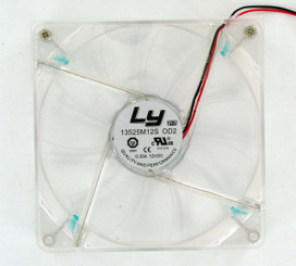 LY 13525M12S-L 135x25mm Power Supply Replacement Fan, Blue LED, 2Pin