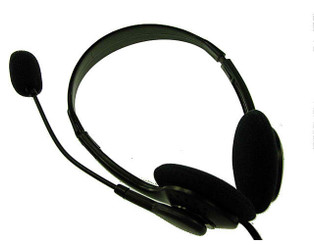 DCT HDMP 257 (HP-257) Volume Control Stereo Headset with Microphone