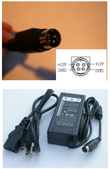 4-Prong AC Adapter, 12V, 5A, 60W