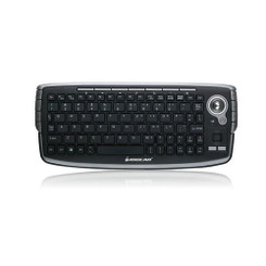 IOGEAR GKM681R Wireless Compact 2.4GHz Trackball Scroll Wheel Keyboard