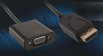 Kingwin DP-1 DisplayPort (M) to VGA (F) Adapter/Active