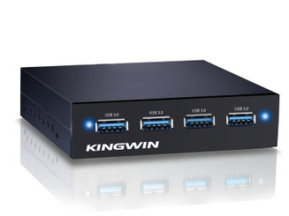 Kingwin KW35-4U3 3.5inch Bay 4-Port USB 3.0 Hub