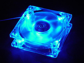 Logisys LT400BL  4LED BLUE 80mm CASE FAN
