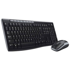Logitech Wireless Desktop MK260 Mouse & Keyboard Combo(Black)
