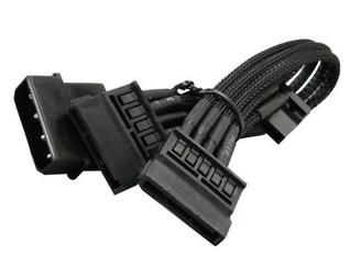 NZXT CB-43SATA Single Sleeved 4pin to 3xSATA Cable (200mm)