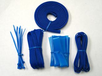 Okgear Blue Cable Sleeving Kit