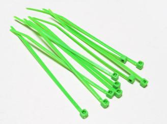 4inch (10cm) UV Green Nylon Cable Zip Tie (10pcs)