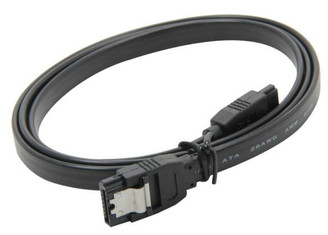 36inch SATA 3.0 6Gbs cable,straight to straight, Black w/ metal latch