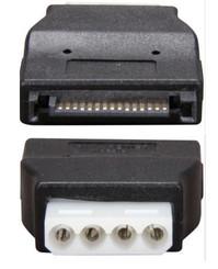 Galaxy GC154 SATA 15Pin  (M) to Molex 4Pin (F) Adapter