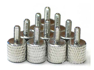 Thumb Screw Silver Aluminum Anodized (10PCS)