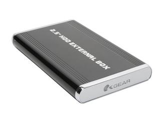 OKGEAR 2.5INCH IDE/SATA to eSATA/USB 2.0 ALUMINUM EXTERMAL ENCLOSURE OK250AU2S-K BLACK