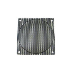 140mm Steel Mesh Fan Filter (Guard), Black - Medium Hole