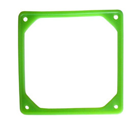 60mm Fan Silencer (Rubber Frame) - UV GREEN