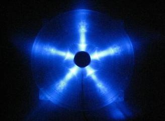 360mm Silent BLUE LED Case Fan w/ Fan Grill & Frame