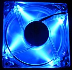 80mm Quad UV LED Fan (Blue)