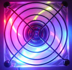 80x80x25mm 4 Color LED fan (B,G,R,Y) w/ Fan Guard