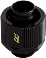Swiftech 5-8x3-8-G1-4-CF-BK (Black) 3/8in x 5/8in Lok-Seal Compression Fitting