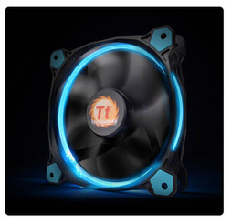 Thermaltake CL-F039-PL14BU-A Riing 14 High Static Pressure Blue LED Radiator Fan