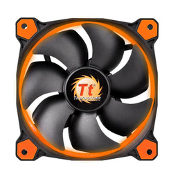 Thermaltake CL-F039-PL14OR-A Riing 14 High Static Pressure Orange LED Radiator Fan