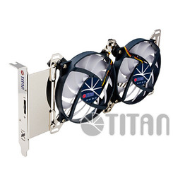 Titan TTC-SC07TZ Adjustable Dual Fan PCI Slot VGA Cooler