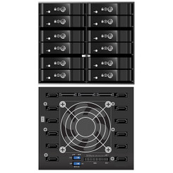 Vantech MRK-M2512T EZ Swap M2500  12 Bay 2.5inch RAID  Backplane/Mobile Rack