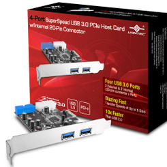 Vantec UGT-PC345 4-Port SuperSpeed USB 3.0 PCI Express Host Card