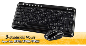 A4tech GL-5300 G7 2.4G Compact Wireless Desktop (Keyboard  + Mouse)