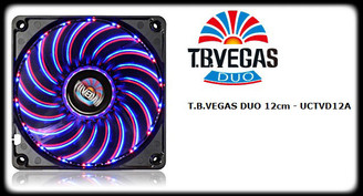 Enermax UCTVD12A T.B. VEGAS DUO Blue/Red Combo LED 11 Switchable Modes120mm Fan