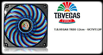 Enermax UCTVT12P T.B. VEGAS TRIO Blue/Red/Green Combo LED 14 Switchable Colo Mode 120mm Fan