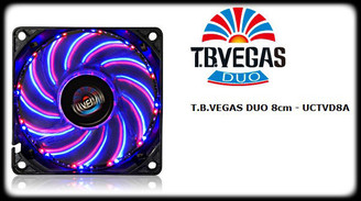 Enermax UCTVD8A T.B. VEGAS DUO Blue/Red Combo LED 11 Switchable Color Modes 80mm Fan