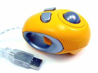 Off-Table Track Finger Mouse , Yellow, USB