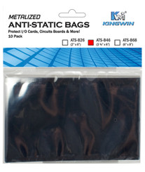 Kingwin ATS-B46 ANTI-STATIC BAG 3 ¾in X6in, 10pcs/bag (For 2.5in HDD)