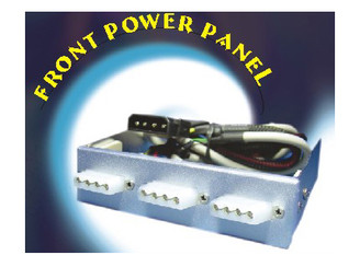 3.5inch Bay Front power panel w/ 3X4Pin Molex