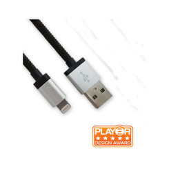 Luxa2 PO-APP-ALL1SI-00 MFi Lightning¢â to USB Charge Sync Aluminium Cable