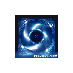 EverCool CLB-6025-4LD2 60mm x 25mm Blue LED 3Pin Fan