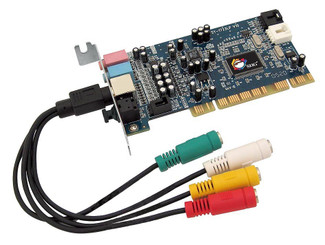 SIIG LP-000022-S2 SoundWave 5.1 PCI-LP Low Profile Sound Card