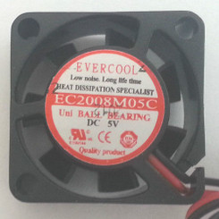 EVERCOOL EC2008M05C 20x20x8mm DC 5V BALL BEARING FAN, 2PIN