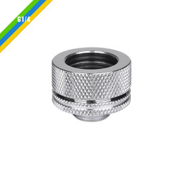 Thermaltake CL-W092-CA00SL-A Pacific G1/4 PETG Tube 16mm (5/8inch) OD Compression – Chrome