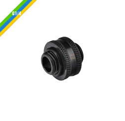 Thermaltake CL-W042-CU00BL-A Pacific G1/4 Male to Male 10mm Extender – Black