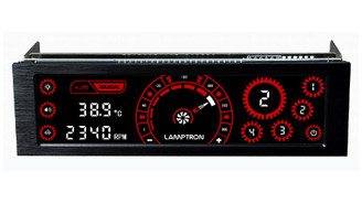Lamptron CM430 4Ch 30W/Ch 5.25inch Bay Touch Fan Controller (Red)