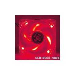 EverCool CLB-8025-4LD4 80x25mm 4 LED Fan (Red)