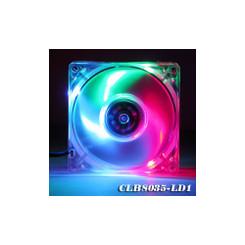 EverCool CLB8035-LD1 80X80X35mm 3 Color (R,G,B) LED Crystal Fan