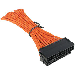 BitFenix Alchemy  BFA-MSC-24ATX45OK-RP Multisleeved 30cm 24Pin ATX Male to 24Pin ATX Female Extension Cable (Orange)