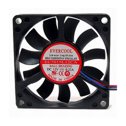 Evercool EC7015L12CA 70x70x15mm Ball Bearing Low Speed Fan, 3Pin