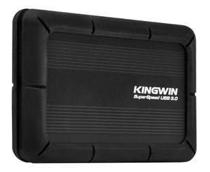 Kingwin KH-203U3-BKSP Black Aluminum Anti-Shock 2.5inch SATA HDD Enclosure