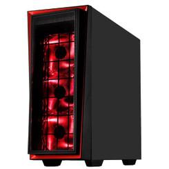 Silverstone SST-RL06BR-PRO (Red Trim + LED Fan) Redline Series ATX/MATX Case