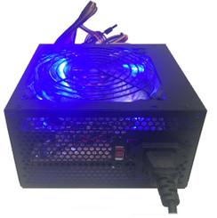 Shark ATX-750-LED 750W 120mm Quad Blue LED Fan Black ATX 12V V2.2 Power Supply