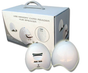 Anyware FHB05 Egg Shaped USB Hub/Speaker/Card Reader Combo